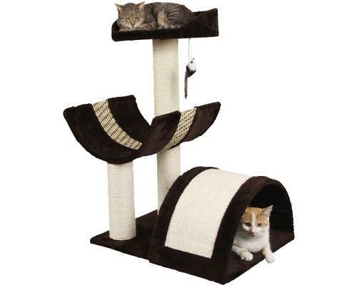 Arbre à chats Safari XL 59x46x83cm marron beige-0