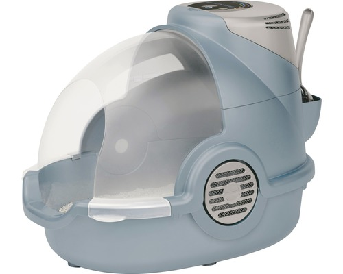 Toilettes pour chats Oster avec désodorisant électronique 65x45x48cm bleu gris-0