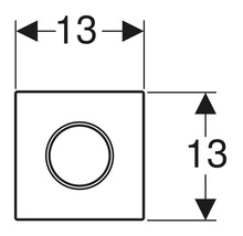Commande d''urinoir GEBERIT Sigma 10 pneumatique blanc/chromé 116.015.KJ.1-thumb-2