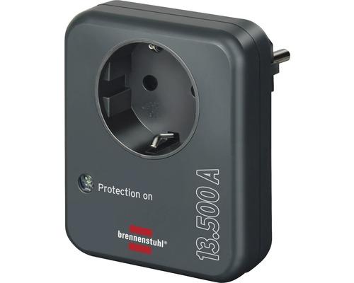 Adaptateur Brennenstuhl avec protection contre la surtension parafoudre pour appareils électriques anthracite