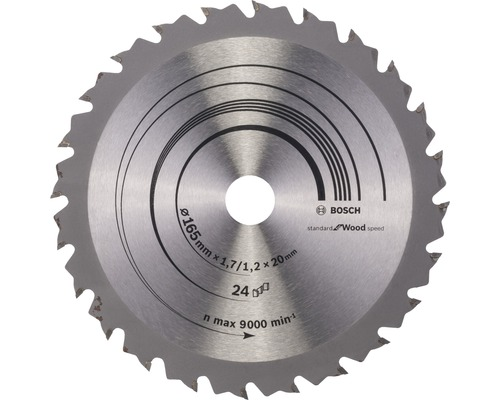 Lame de scie circulaire Speedline Wood H Ø 165x20mm Z 24