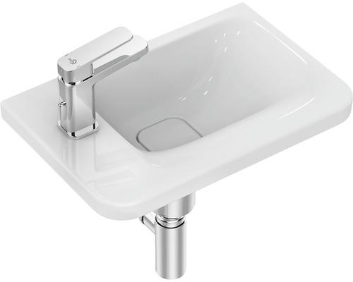 Lave-mains Ideal STANDARD Tonic II 46 cm surface de rangement à gauche avec bonde de vidage IdealFlow blanc K087501-0