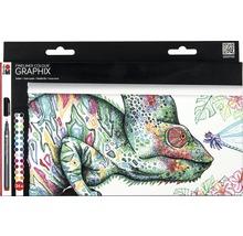 Marabu Fineliner kit Graphix Hypnotize 24 pièces-thumb-0