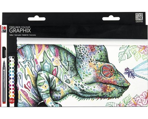 Marabu Fineliner kit Graphix Hypnotize 24 pièces-0