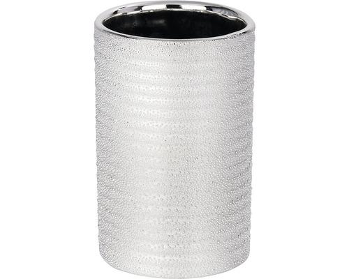 Gobelet pour brosses à dents céramique Polaris Juwel argenté