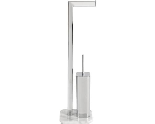 Serviteur WC Onyx chromé/marbre