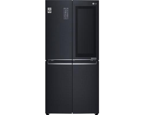Réfrigérateur américain LG GMQ844MCKV lxhxp 83,5 x 178,7 x 73,4 cm compartiment de réfrigération 321 l compartiment de congélation 209 l 393 kWh/an noir