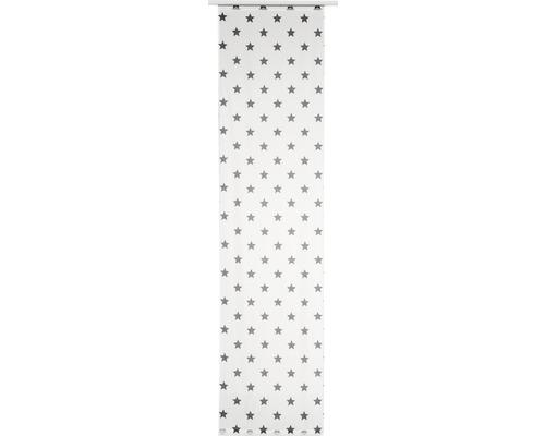 Schiebegardine Stars Allover grau 245x60 cm