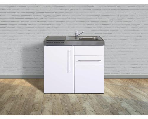 Kitchenette stengel Premiumline largeur 100 cm MP100S KS plaque de cuisson en verre bac à droite