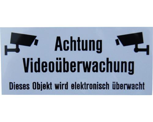 Autocollant «Videoüberwachung» 40x90 mm