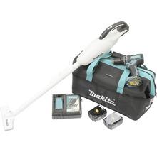 Kit Makita 18V avec aspirateur sans fil DCL181FRFFW, perceuse-visseuse à percussion sans fil DHP480Z, 1 batterie (3 Ah), 1 batterie (5 Ah) et chargeur-thumb-1