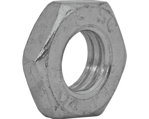 Écrou à six pans type bas DIN 439 M3 galvanisé, 100 unités