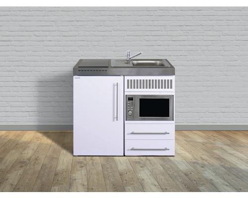 Kitchenette stengel Premiumline largeur 100 cm MPM100 KS plaque de cuisson en verre bac à droite