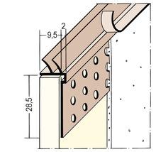 Profilé de raccordement PVC PP 9,5 mm avec lèvre d''étanchéité longueur 3,00 m botte = 35 pièces-thumb-0