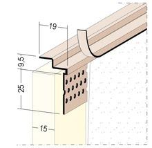 Profilé de raccordement PVC PP 15 mm longueur 3,05 m botte = 40 pièces-thumb-0