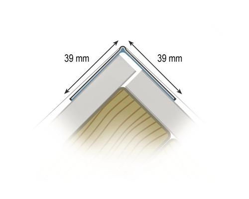 Profilé de protection autocollant WET STICK 90 degrés longueur 2,74 m botte = 50 pièces-0