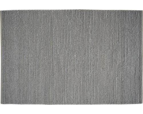 Tapis à boucles aspect laine Lana gris clair 60x90 cm
