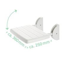 Siège pliant pour douche Eco blanc-thumb-1