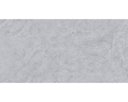 Carrelage pour mur et sol en grès cérame fin Onyx gris verre poli rectifié 30x60cm-0