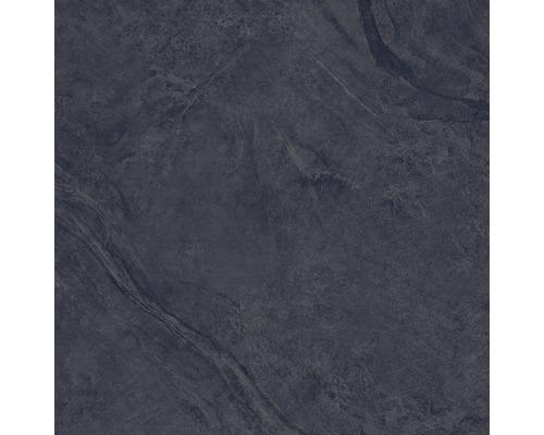 Carrelage pour mur et sol en grès cérame fin Onyx noir verre poli rectifié 60x60cm