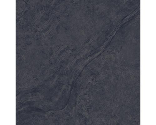 Carrelage pour mur et sol en grès cérame fin Onyx noir verre poli rectifié 80x80cm