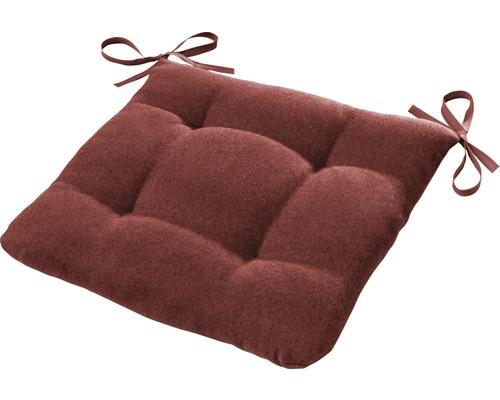 Galette de chaise Ontario rouille/rouge 42x42 cm