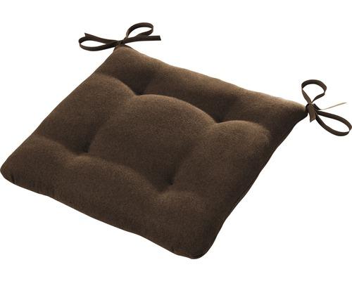 Galette de chaise Ontario marron 42x42 cm