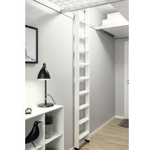 Escalier pour lit surélevé blanc apprêté 2 parties Dolle avec 10 marches-thumb-4