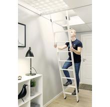 Escalier pour lit surélevé blanc apprêté 2 parties Dolle avec 10 marches-thumb-5