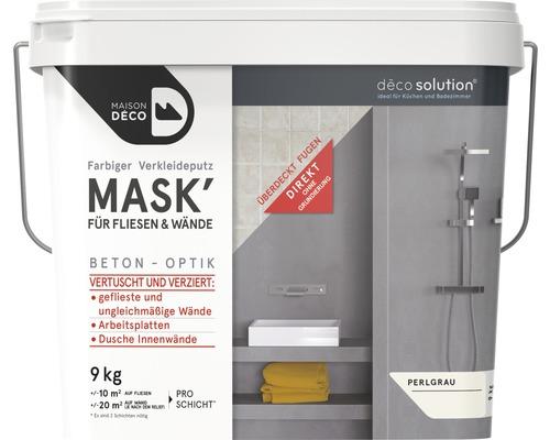 Enduit d''habillage coloré Maison Deco MASK'' à effets pour carrelage gris perle 9 kg