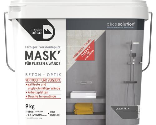 Enduit d''habillage coloré Maison Deco MASK'' à effets pour carrelage pierre de lave 9kg