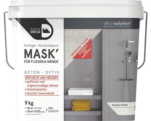 Enduit d''habillage coloré Maison Deco MASK'' à effets pour carrelage galets 9kg