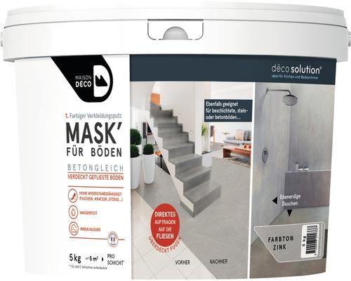 Enduit d''habillage coloré Maison Deco MASK'' à effets pour sols Zinc 5kg