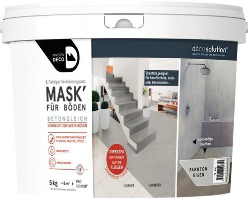 Enduit d''habillage coloré Maison Deco MASK'' à effets pour sols Fer 5kg