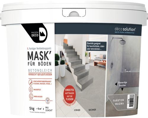 Enduit d''habillage coloré Maison Deco MASK'' à effets pour sols Magma 5kg