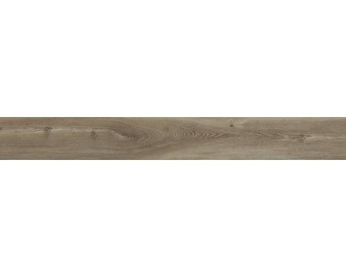 Carrelage pour sol et mur en grès cérame fin San Remo Teak 20 x 160 cm-0