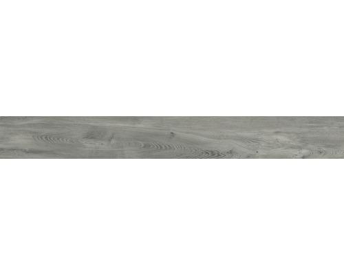 Carrelage de sol en grès cérame fin San Remo Ash 20x160 cm-0