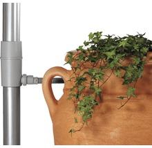 Collecteur d'eau de pluie, filtre pour tuyau de descente, gris
