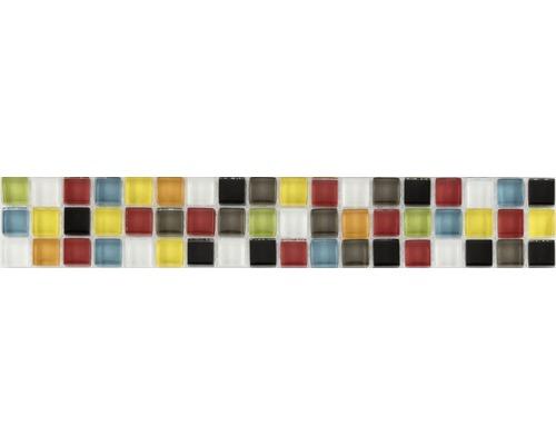 Frise en verre verre multicolore mix 4,8x29,8cm