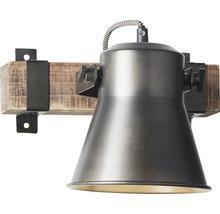 Spot mural à 1 ampoule hxl 250/240 mm Decca bois/métal marron/noir-acier-thumb-1