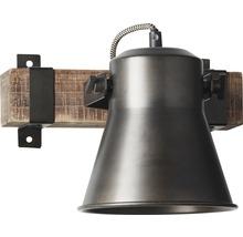 Spot mural à 1 ampoule hxl 250/240 mm Decca bois/métal marron/noir-acier-thumb-9