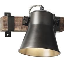 Spot mural à 1 ampoule hxl 250/240 mm Decca bois/métal marron/noir-acier-thumb-10