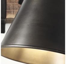 Spot mural à 1 ampoule hxl 250/240 mm Decca bois/métal marron/noir-acier-thumb-13