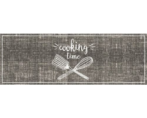 Paillasson anti-salissures Cook&Wash Cooking Time beige 50x150 cm