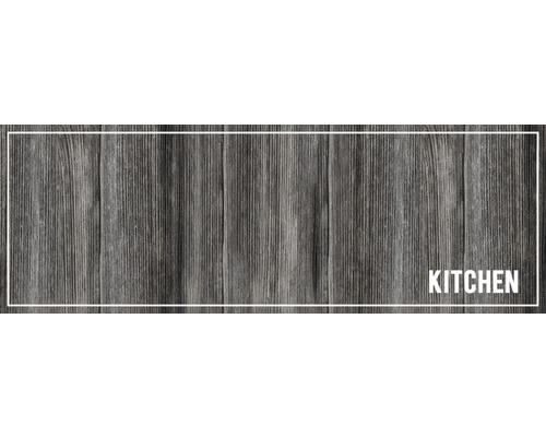 Paillasson anti-salissures Cook&Wash kitchen wood anthra 50x150 cm