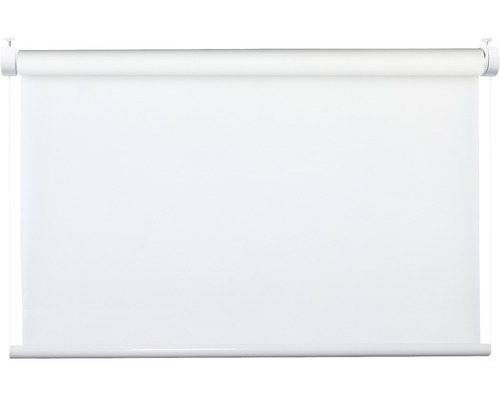Store à système de serrage Flex avec guidage latéral sans perçage réglable en haut et en bas uni blanc 40x130 cm avec support de serrage