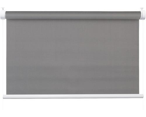 Store à système de serrage Flex avec guidage latéral sans perçage réglable en haut et en bas uni gris 50x130 cm avec support de serrage