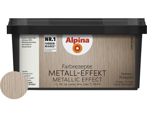 Alpina Farbrezepte lasure à effet effet métal or rosé 1 l
