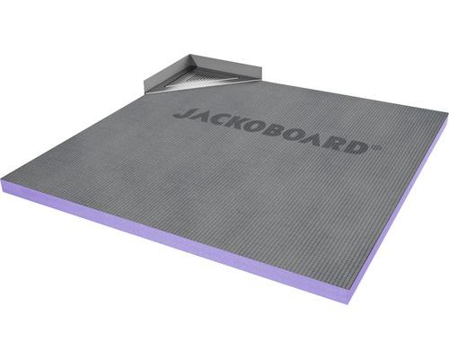 JACKOBOARD Aqua Delta befließbares Duschelement 900x900mm inkl. Eck-Ablaufsystem waagerecht