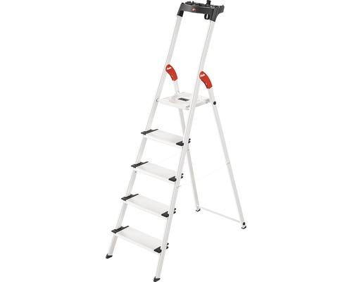 Aluminium-Sicherheits-Haushaltsleiter Hailo L80 ComfortLine 5 Stufen